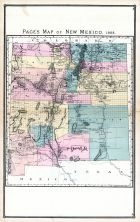 New Mexico, United States 1885 Atlas of Central and Midwestern States